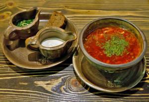 ボルシチがいちばんおいし「カバチョーク」いレストラン