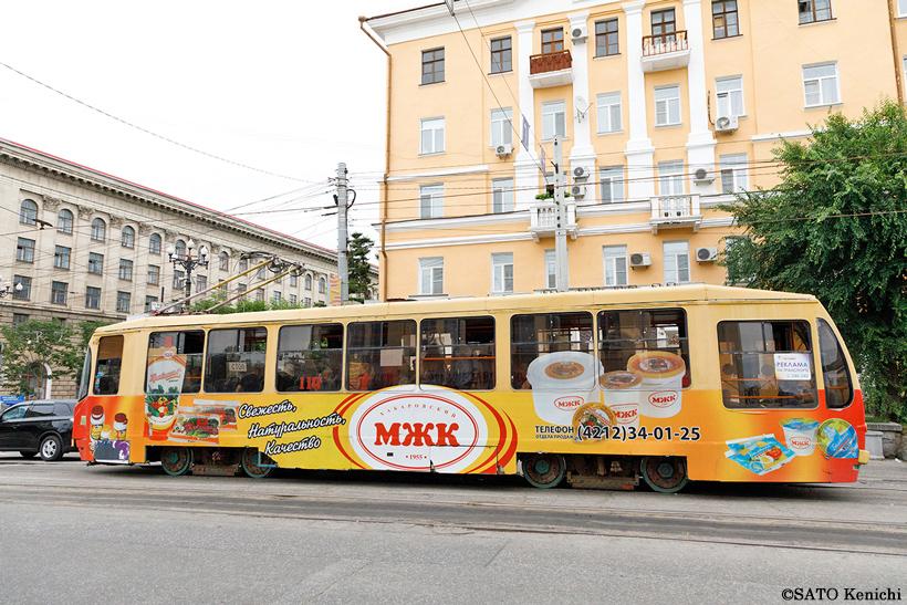 ハバロフスクのトロリーバス1