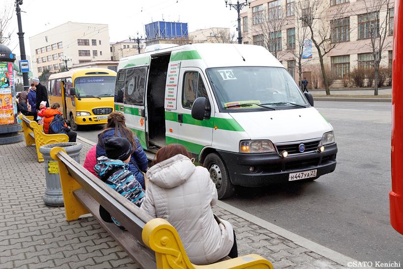 ハバロフスクのミニバス