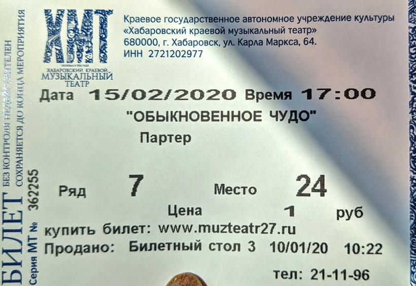 演劇のチケット