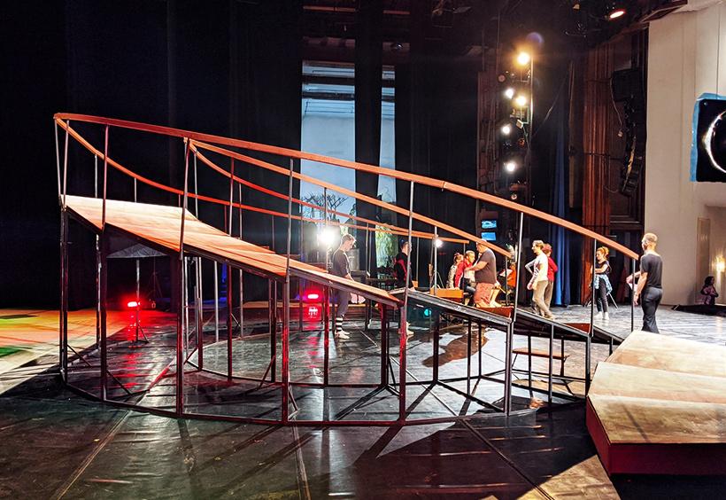 ハバロフスク地方音楽劇場での稽古の様子