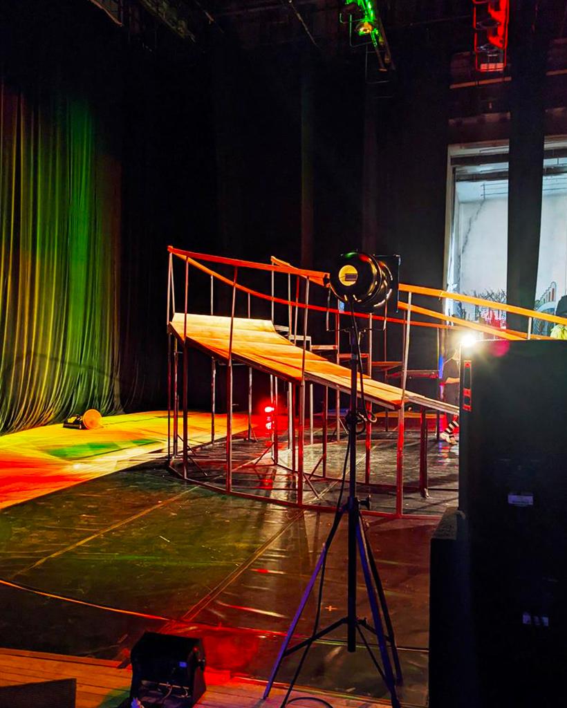 ハバロフスク地方音楽劇場の舞台裏