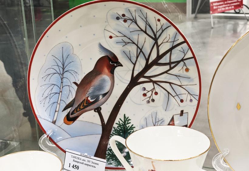 野鳥の絵皿