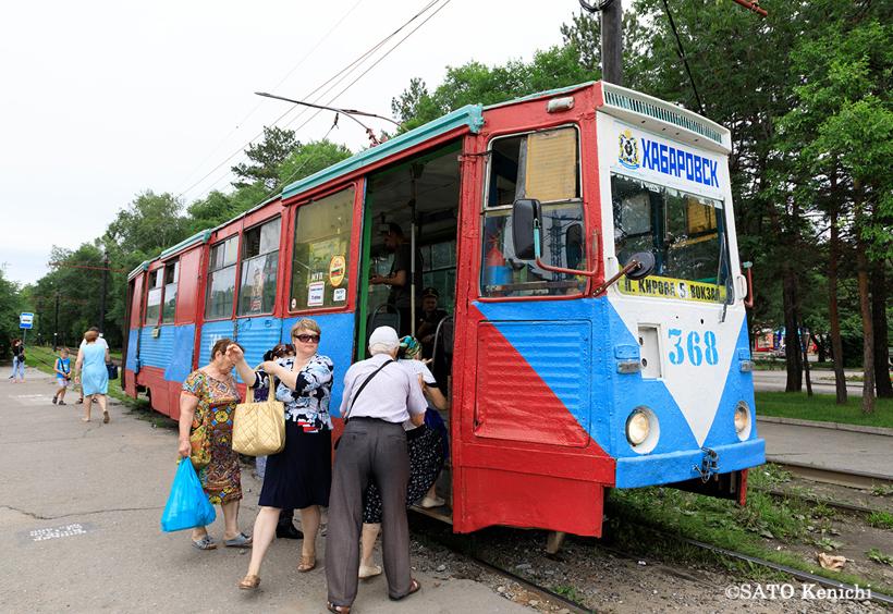 ハバロフスクの路面電車(Трамвай)