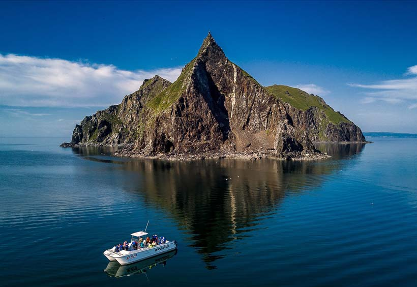 ボートで島巡り