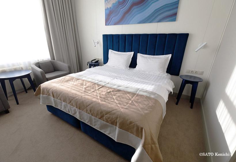 ハバロフスクのデザインホテルの客室