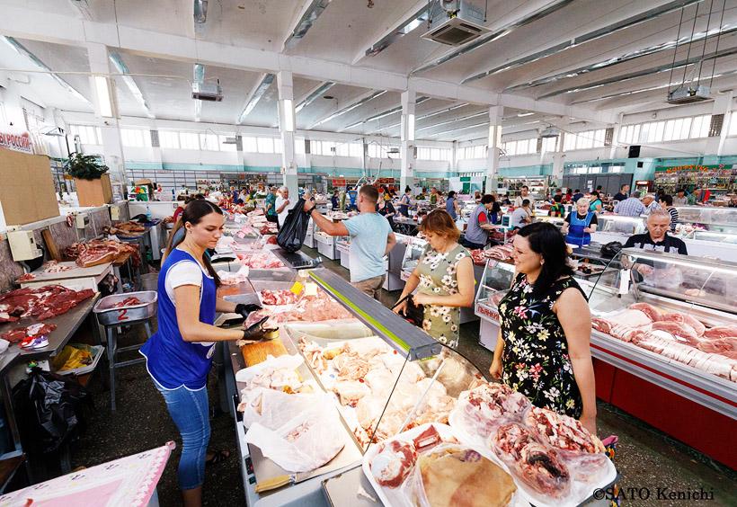 オホーツク海でとれた海鮮や肉
