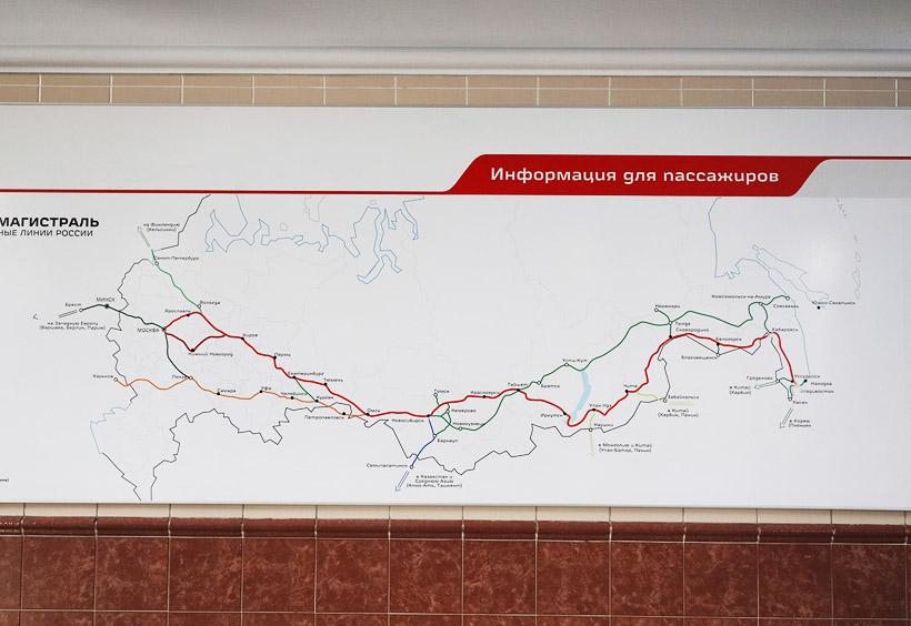 シベリア横断鉄道は全長9300kmと世界最長の鉄道です