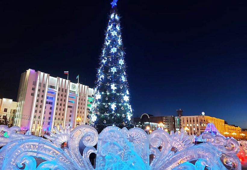 ロシアのクリスマスツリーであるヨールカ(ёлка)