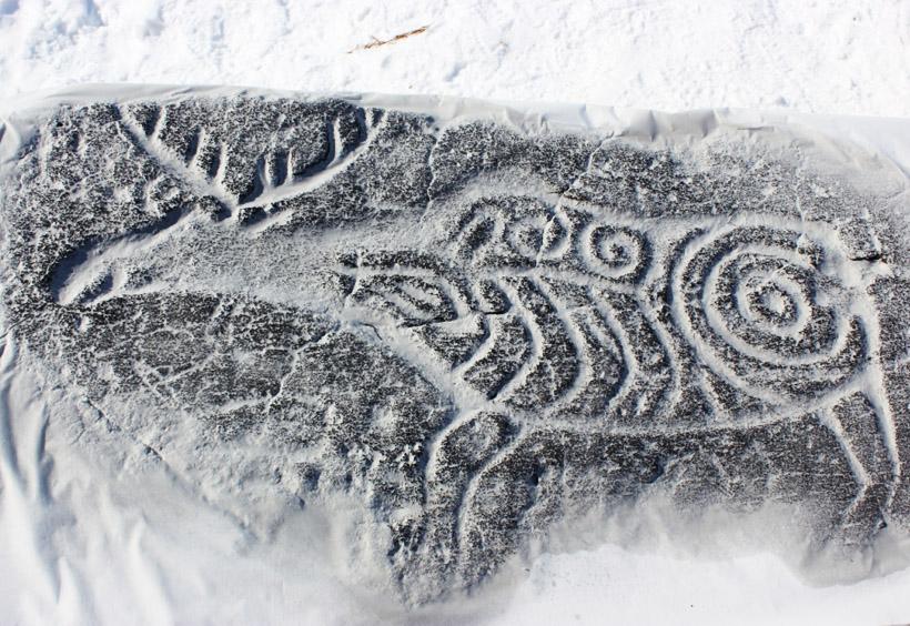 ヘラジカの岩石画
