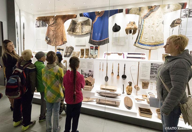 1階には、サハリンの先住民族の展示もあります