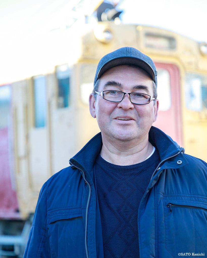 館長のアンドレイ・ニコラエヴィチ・チリキンさんは、長くサハリン鉄道に勤めた