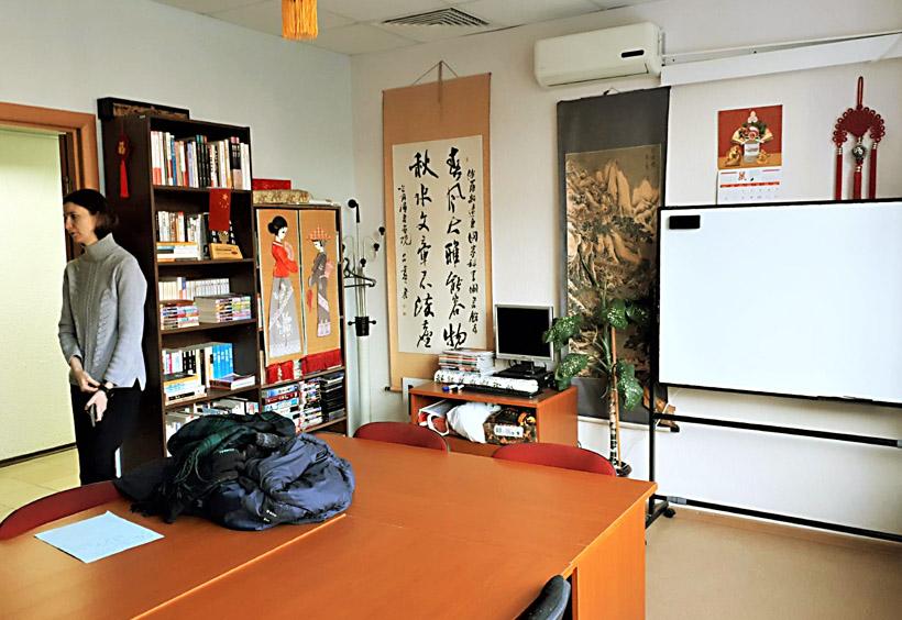 ここはプライベートレッスン用の教室