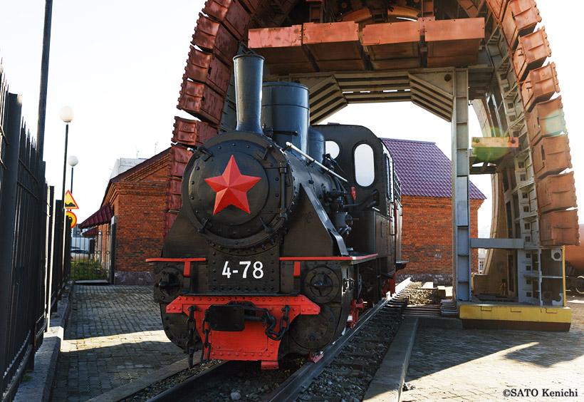 19世紀にロシアで製造されたナローゲージの機関車「TU7-015」