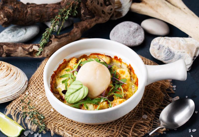 海鮮グルメ王国サハリンの創作料理メニューの数々
