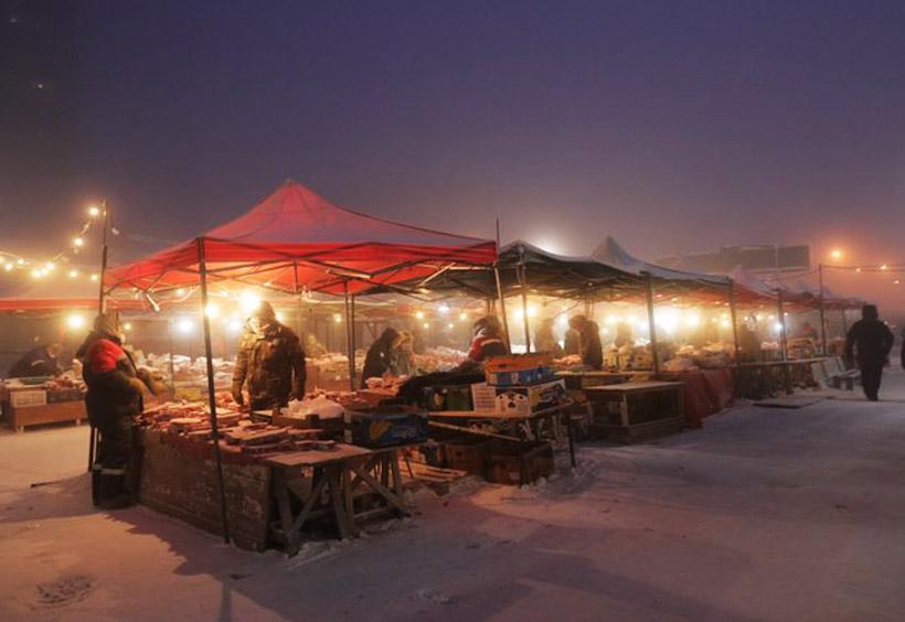 ヤクーツクの市場