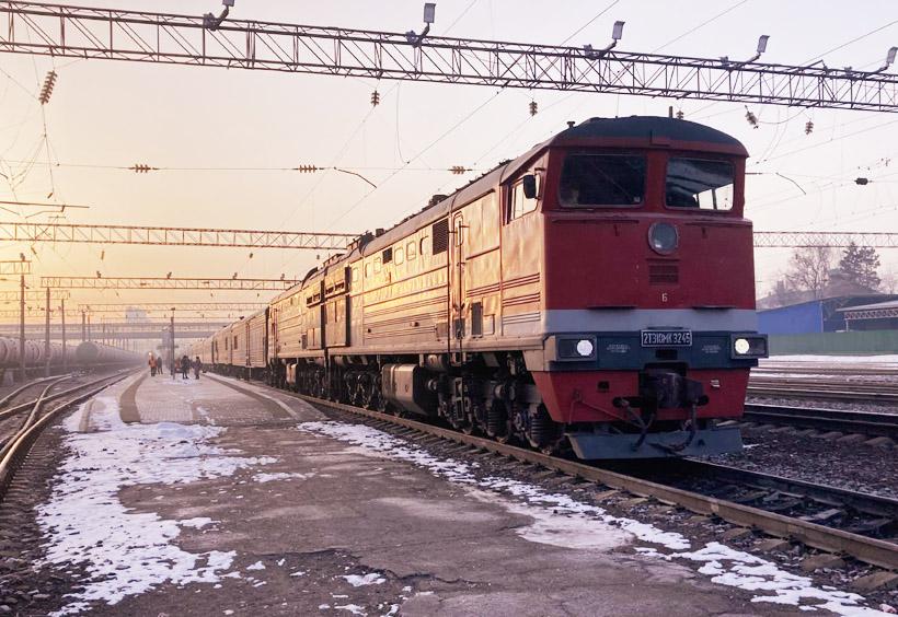 ウラジオストク発ソヴィエツカヤ・ガヴァニ行きの長距離列車でリトフコを目指す