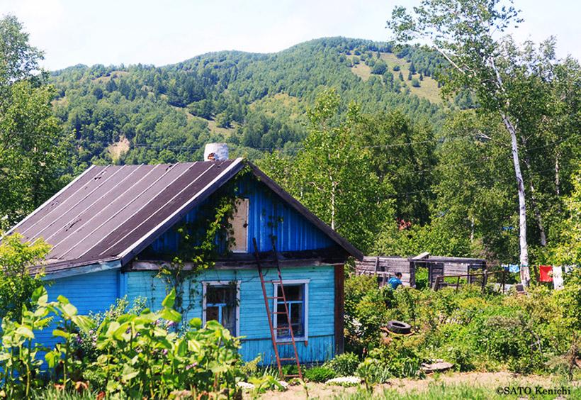菜園付きセカンドハウスのダーチャ